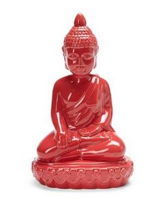 Red Ceramic Buddha