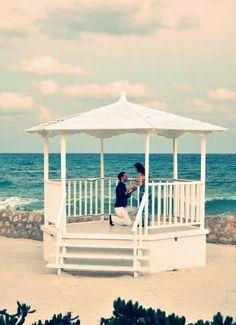 We caught a romantic proposal at the El Dorado Royale. #wedding #Mexico