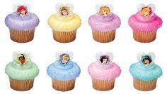 Disney Princess Glitter Hearts Cupcake Rings