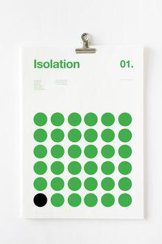 Nick Barclay, dont nous avons déjà parlé, a voulu concevoir une série de posters afin de désigner les différents symptômes liés à la dépression : l'isolement, le retrait, la crainte, l'espoir, la clarté puis la confusion. Il a utilisé des lignes droites ou circulaires, en noir et vert, pour illustrer chaque symptôme avant-coureur.