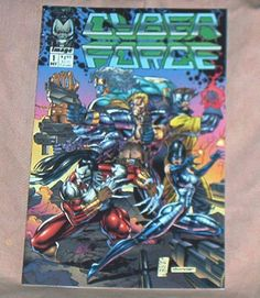 CYBER FORCE, # 1 (of 4), October, 1992, First Series, Marc and Eric Silvestri,First Printing, w/coupon, Image/Malibu Comice, Fine+-Very Fine by brotoys1 on Etsy