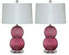 Italian Murano Lamps - not fussed about the shades.