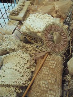 Basket full of lace