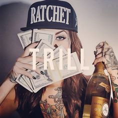 Bad Bitch Blowing Money Fast Cash US Dollars Trill Ratchet SnapBack Dope Chicano, Gangster Girl, Gangster Quotes, Gangster Style, Real Gangster, By Any Means Necessary, Bad Girls Club, Picture Blog, Pretty Girl Swag