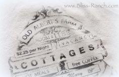 Diy Dinner Napkin Image Transfer Tutorial {with Bliss Ranch!}