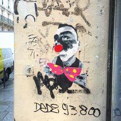 By @mimileclown  #streetart #streetartist #urbanart #urbanartist #graffiti #graff #streetartparis #parisgraffiti #graffitiwall #wall #wallporn #wallpornart #streetarteverywhere #streetphoto #streetartandgraffiti #urbanwalls #graffart #spray #bombing #collage #pochoir #sticker #instagraff  Rue St Denis #paris