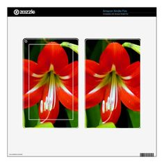 Lovely Amaryllis Skin For Kindle Fire