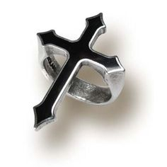 Gothic Cross Ring Pewter In Memoriam Alchemy Jewelry Punk Rock R145 #Alchemy #GothicCross