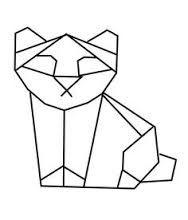 """Résultat de recherche d'images pour """"dessin panda origamie"""""""