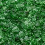 1/4 in. 25 lb. Green Landscape Fire Glass