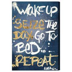 Seize the Day Denim  - Oliver Gal Art