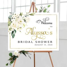 #bridalshower #bridalshowerdecor #bridalshowersign #bridalshowersigns #weddingshowersigns #welcome #welcomesign #bachelorettesigns #bachelorettedécor #bachelorettesign #bridalluncheon #signs #printable #whiteroses #whitewedding #greenery Bridal Shower Welcome Sign, Bridal Shower Signs, Wedding Welcome Signs, Cream Roses, Blush Roses, Wedding Graphics, Photo Booth Frame, White Backdrop, Floral Theme