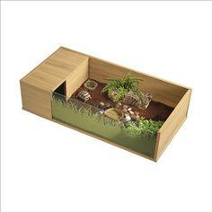 Vivarium pour tortues terrestres en bois mélaminé : 90x45x21 cm