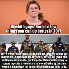 Another Pinner said: Really, that is the truth! Getting punished for working in the privileged white society