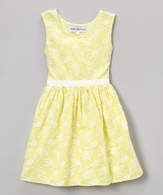 Look what I found on #zulily! Yellow Floral Embroidered Dress - Toddler & Girls #zulilyfinds