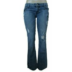 """American Eagle Outfitters Skinny Flare Jeans First pic of model wearing this style of Jeans. Last 3 pics of actual item/actual color. Jeans are made of 99% Cotton and 1% Spandex. Size 0 Regular. Stretch skinny flare. Length """"39. Laying flat """"13.5. Inseam """"32. Rise """"8. This item is NOT new, It is used and in Good condition. Authentic and from a Smoke And Pet free home. All Offers through the offer button ONLY.  Ask any questions BEFORE purchase. Please use the Offer button, I WILL NOT…"""