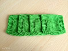 St. Patrick's Day Knit Cocktail Coasters - Just Be Crafty