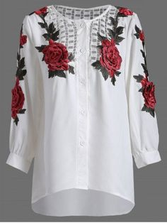 GET $50 NOW   Join RoseGal: Get YOUR $50 NOW!http://m.rosegal.com/blouses/rose-embroidery-openwork-blouse-833634.html?seid=9044544rg833634