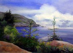 Blue Day Monhegan Island - Evelyn Dunphy