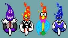 undertale grillby pixel version by cabbt