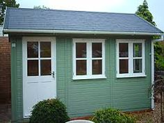 12 x 8 Traditional, Warwick Garden Offices Cuprinol, Shed Colours, New England Style, Garden Studio, Garden Office, Garage Doors, Outdoor Structures, Windows, Traditional
