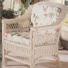 Harbor Front Wicker Arm Chair: americancountry.com