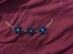 Braccialetto fiori blu