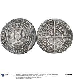 England: Edward III. Münze Edward III. (1327-1377), König von England, 1327-1365 und 1372-1377 Herzog von Aquitanien, Königtum, Münzherr 1354-1355 Land: Großbritannien (Land) Region: Northumbria (Region) Münzstätte/Ausgabeort: York Nominal: Groat, Material: Silber, Druckverfahren: geprägt Gewicht: 4 g Durchmesser: 27 mm