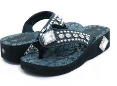 Montana West Flip Flops - Black  Only $44.00  These are soooo CUTE AND COMFY!!