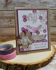 Super Stamp Girl by crykomara - Cards and Paper Crafts at Splitcoaststampers Bee Cards, Botanical Flowers, Choose Happiness, Stampin Up, Bloom, Paper Crafts, Birds, Gallery, Frame