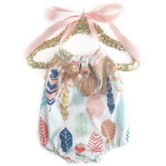 Boho Romper Toddler Romper Baby Romper Feather by TheCrankyPeach