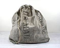 Vintage Mail Bag / Vintage US Postal Mail Bag / by HuntandFound