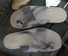 Handmade Leather Sandals Men's Genuine Leather and por MarioDoni