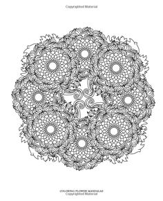 Mandala Coloring pages colouring adult detailed advanced printable Kleuren voor volwassenen coloriage pour adulte anti-stress kleurplaat voor volwassenen Line Art Black and White http://www.amazon.com/Coloring-Flower-Mandalas-Hand-drawn-Relaxation/dp/1612434576