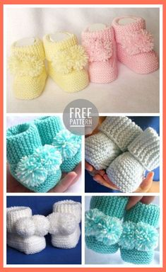 icu ~ Pin on Crochet: Baby/child ~ Baby Booties Crochet Free Pattern Baby Booties Knitting Pattern, Knit Baby Booties, Baby Hats Knitting, Booties Crochet, Crochet Baby Shoes, Crochet Baby Clothes, Crochet Slippers, Baby Slippers, Baby Bootie Pattern
