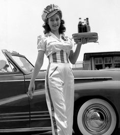 Car hop in the 1950's.