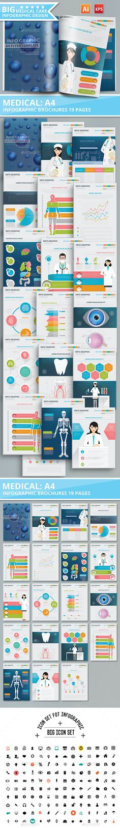 19 Page Medical and Healthy Infographic Design - Infographics