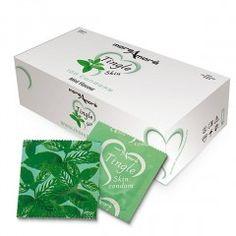 Prezerwatywy MoreAmore Tasty Skin - o zapachu Miętowym - 100 szt.