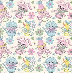Vintage Gift Wrap - Baby Rattles by hmdavid, via Flickr
