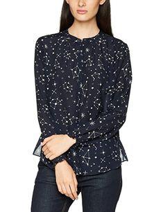 Liebeskind Damen Bluse H1172910, Mehrfarbig (Galaxy Print F 99C3), 34: -  Blusen outfit blusen kombinieren blusen sommer blusen frühling blusenshirt  nähen ...