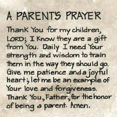 A parent prayer