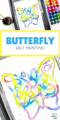 Do It Yourself Houseboat Strategies - Building Your Own Houseboat Arty Crafty Kids Art Butterfly Salt Painting - A Magical And Unusual Art Process For Kids, That's Great For Exploring Color Easy Preschool Crafts, Easy Arts And Crafts, Preschool Art, Kids Crafts, Creative Crafts, Spring Crafts For Kids, Diy Gifts For Kids, Crafts For Kids To Make, Projects For Kids