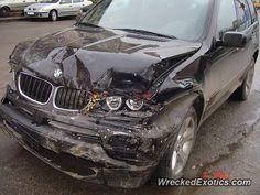 BMW X-Series X5 crashed in Bucharest, Romania