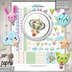 Balloon Planner Stickers by www.YupiYeiPapers.etsy.com