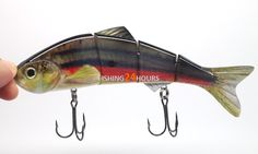 "Free Shipping 5in1 5x 6"" 1.2oz Fishing Lure Bait Swimbait Wobbler Real Life Like 4 Segments Bass NEW-in Fishing Lures from Sports & Entertainment on Aliexpress.com"