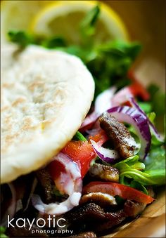 even though I can't eat gyros anymore (b/c they have bread crumbs in them) I still love them & miss them!