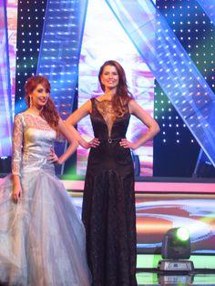 black dress - Renata Barchiesi in Miss Chile