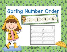 Spring Number Order - place in a math work station.  Write the numbers on the recording sheet.  Two set provided (1-15 and 1-20)