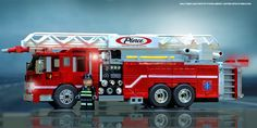 Pierce Arrow XT Engine2 | Engine 2 is a Lego model of a Pier… | Flickr Lego City Fire Truck, Fire Trucks, Lego City Sets, Lego Sets, Lego Village, Walmart Toys, Police Truck, Lego Fire, Chrome Wheels
