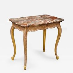 French Giltwood and Marble Console Table Circa 1860